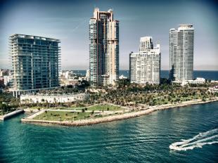 Aerial view of Miami Beach, Florida, United States